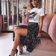 PRINCESS T Shirt & Long Skirt 2 Pieces Sets <p> Streetwear High Waist Skirts