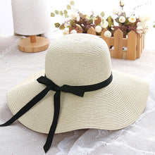 Summer Straw Beach Hat (Women) <p> Floppy Foldable UV Protection