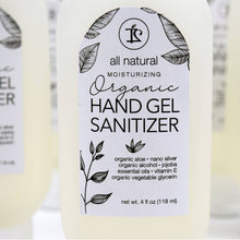Organic Antibacterial Hand Sanitizer Gel with Colloidal Silver, Organic Alcohol, Organic Aloe 4oz