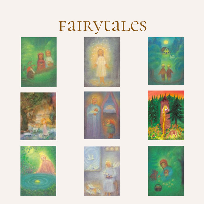 Waldorf fairytales postcard set