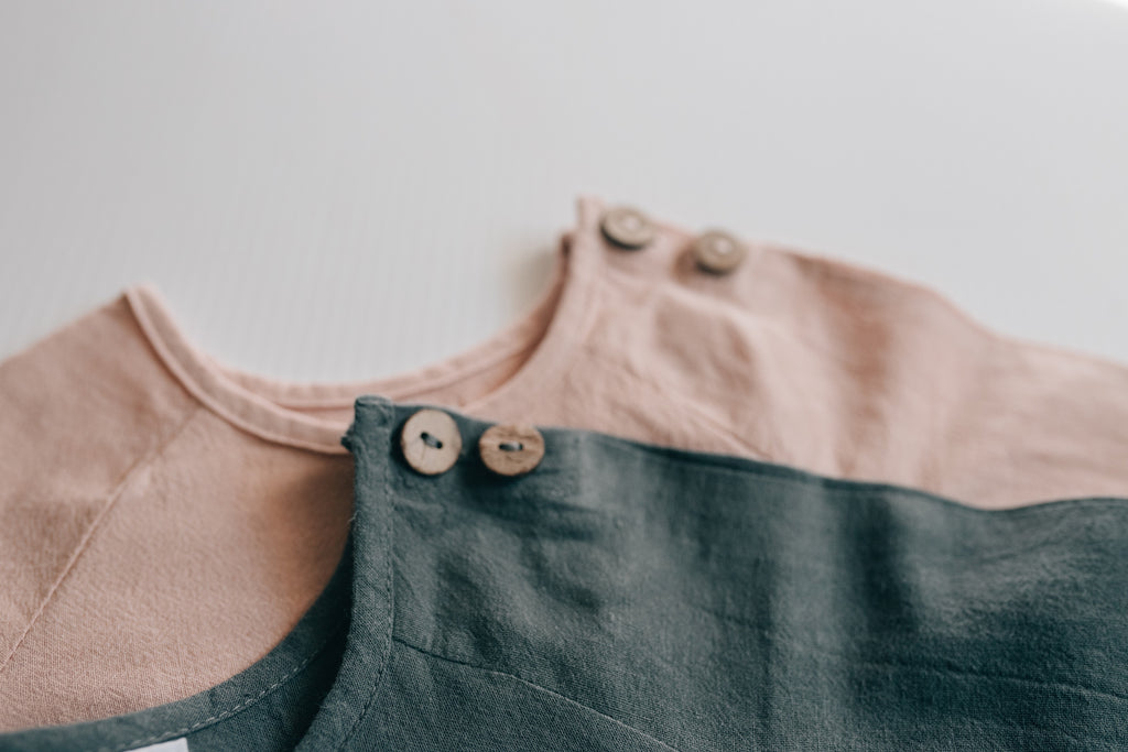 pink baby linen detail