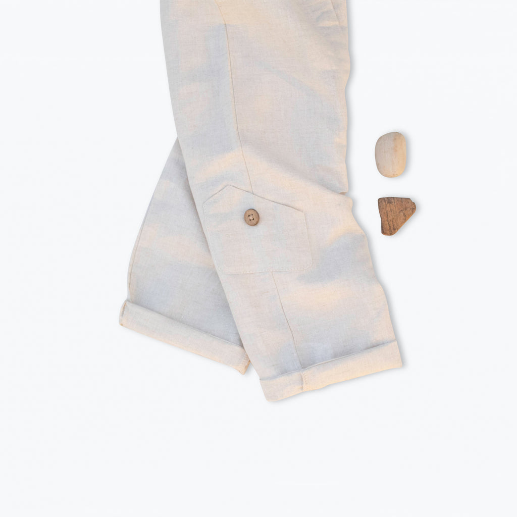 Linen/ Cotton Jumpsuit  - Milk