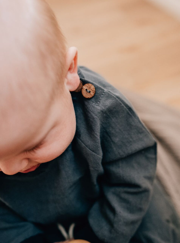 baby boy long sleeve shirt linen
