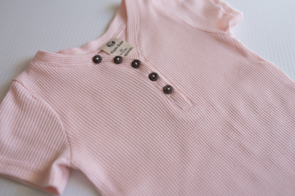 Short-sleeve Romper - Blush Pink
