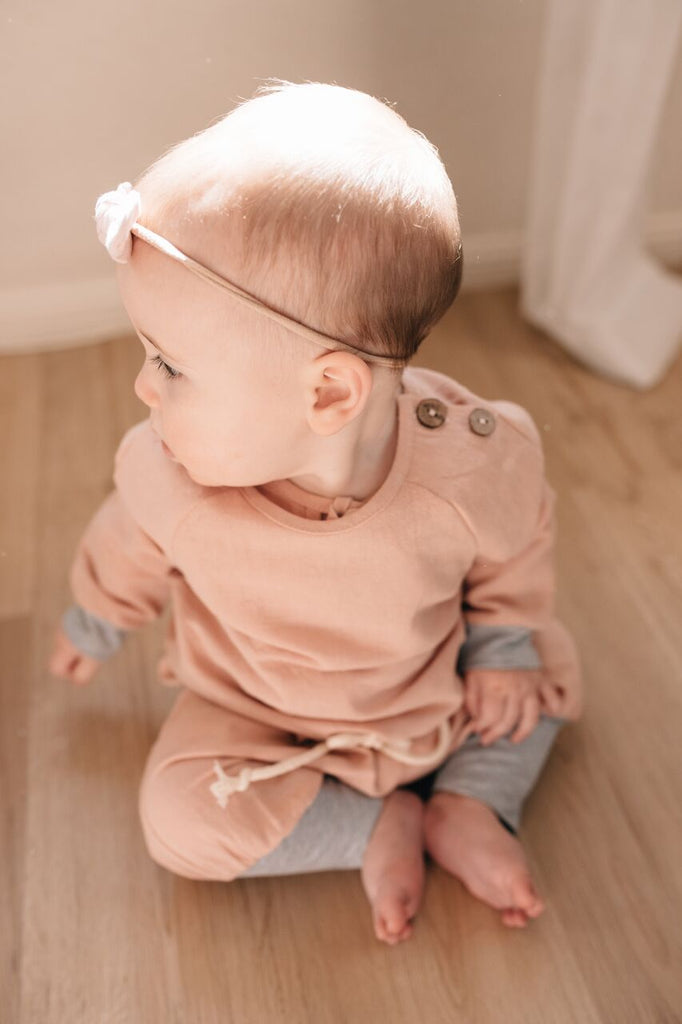 baby girl long arm shirt linen