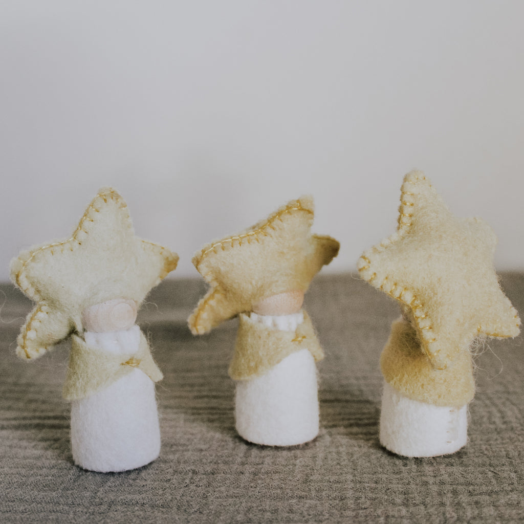 felt star fairy peg doll