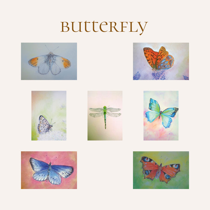 butterfly nature table cards