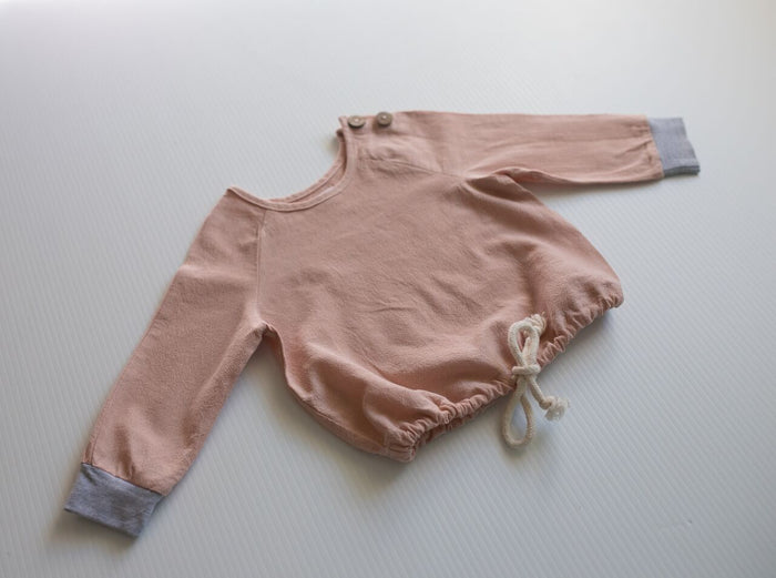 Smocked Shirt - Dusty Blush