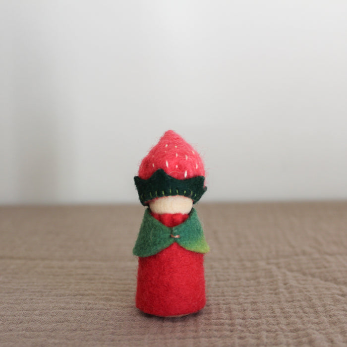 strawberry nature table gnome