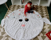 Fuzzie Dot Zoey - Plush Minky Lamb Children's Blanket