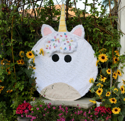 Magical White Unicorn Minky Soft Round Sensory Baby Kids Blanket Extra Large Mini Size Fuzzie Dot Zella