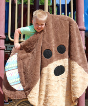Minky Monkey Soft Round Baby Kids Blanket Extra Large Mini Size Fuzzie Dot Zekie