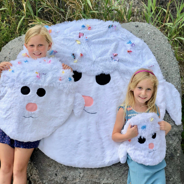 Zoey - Plush Minky Lamb Children's Blanket