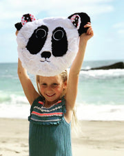 Fuzzie Dot Zorie_ Lovable Minky Panda Bear Kids Blanket