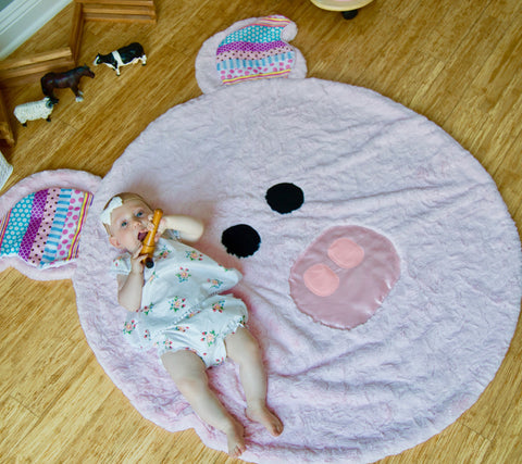 Ziggie - Adorably Soft Minky Kids' Pig Blanket