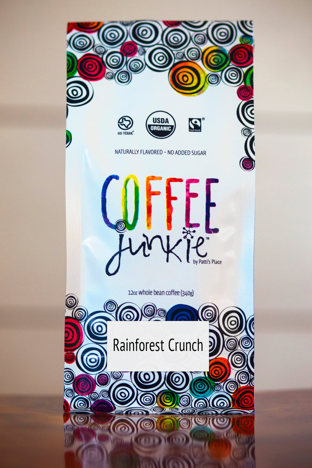 Rainforest Crunch Coffee Junkie Flavored Coffee- Organic, Fair Trade, Local
