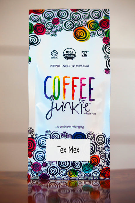 Tex Mex Coffee Junkie Flavored Coffee- Organic, Fair Trade, Local