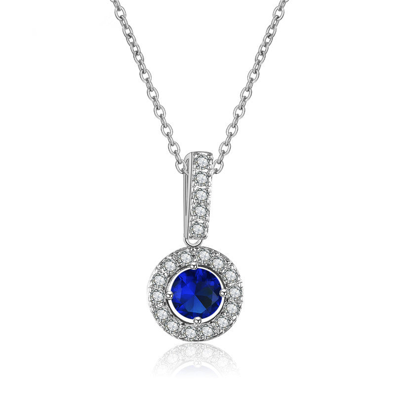 saphire pendant p cubic context and zirconia synthetic silver sapphire productx