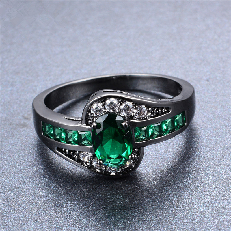 aaa size box jewelry women earrings from new the ring dhgate product set pigeon emerald zircon com s
