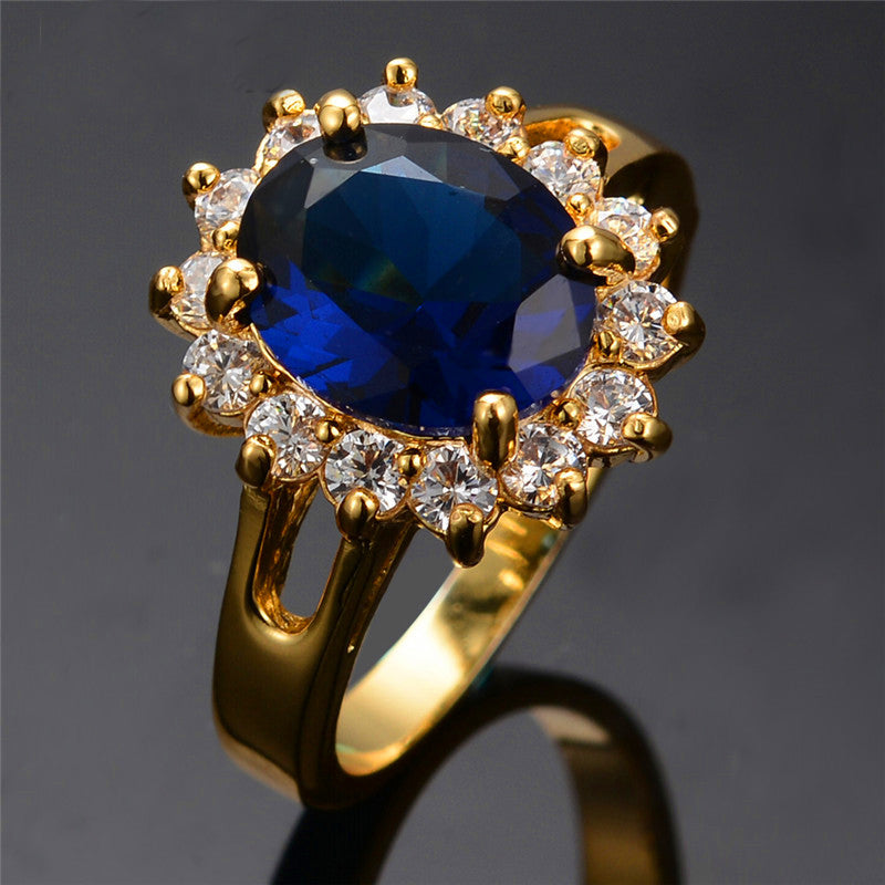 Flower september birthstone ring in yellow gold the kit clubs aloadofball Images