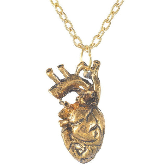 ANATOMICAL HEART PENDANT NECKLACE – The Kit Clubs