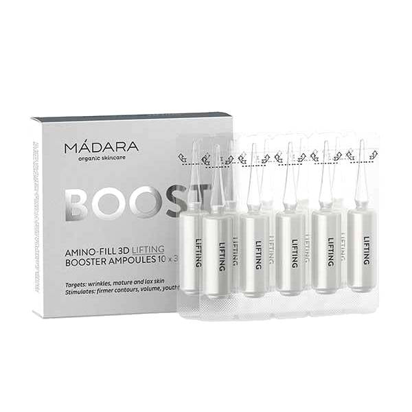 MÁDARA Amino-Fill 3D Lifting Booster Ampoules 10 x 3ml - Econique