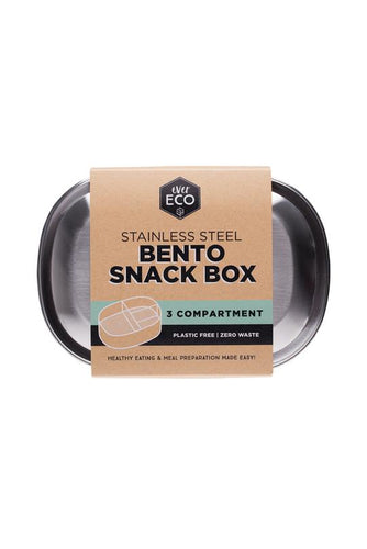 EVER ECO Stainless Steel Bento Snack Box 3 compartment - Econique