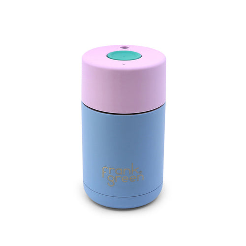 FRANK GREEN Stainless Steel Smart Cup 10oz  LITTLE BOY BLUE / PINK LAVENDER / ARCADIA COFFEE CUP - Econique