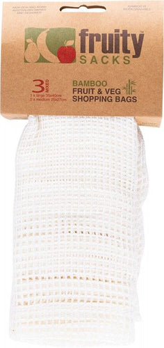 Fruity Sacks Reusable Bamboo Mesh Bags 3 Pack Large - Econique