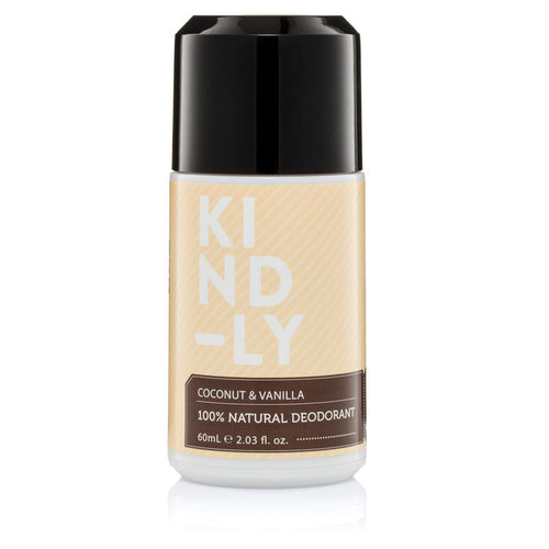 Kind-ly 100% Natural Deodorant  Coconut & Vanilla 60ml - Econique