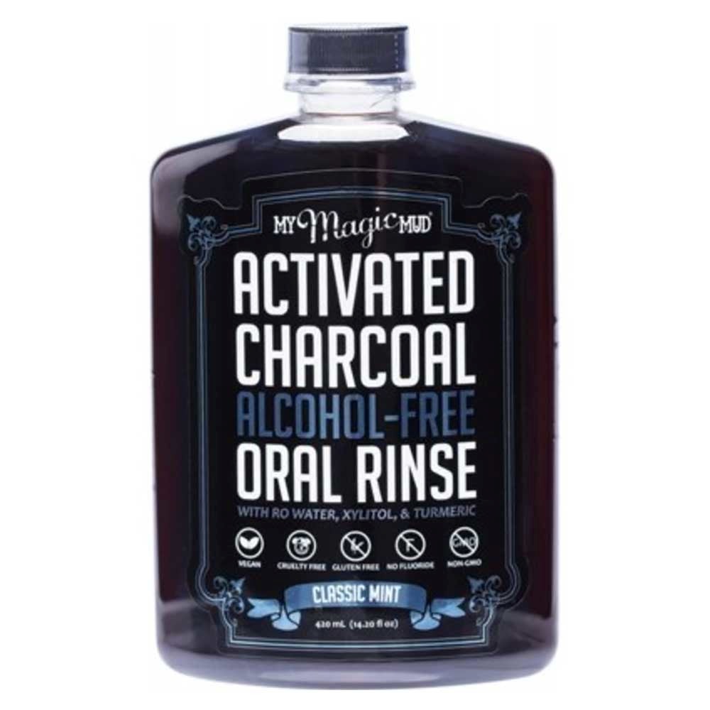 My Magic Mud Activated Charcoal Oral Rinse Classic Mint - Econique