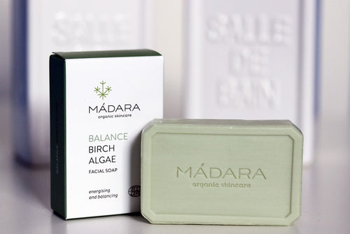 MÁDARA Birch & Algae Face Soap Enriched with Skin Nourishing Wheat Germ - Econique
