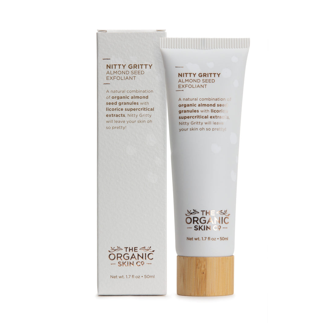 The Organic Skin Co Brightening Almond Seed Exfoliant Nitty Gritty - Econique