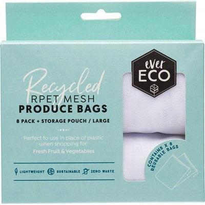 EVER ECO Recycled RPET Mesh Product Bags 8 pack