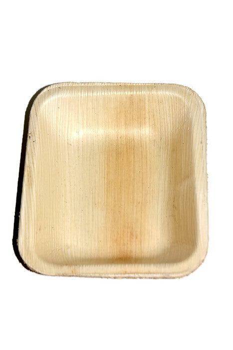 PALM LEAF Biodegradable Picnicware Pack 10 - Square Bowl 6' x 5'