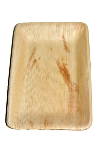 PALM LEAF Biodegradable Picnicware Pack 10 - Rectangle Plate 10' x 7' - Econique