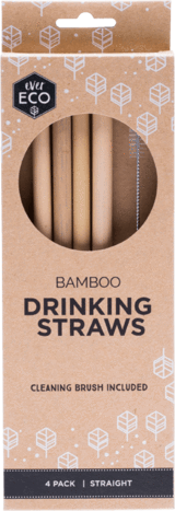 Ever Eco Bamboo Drinking Straws x 4 - Econique