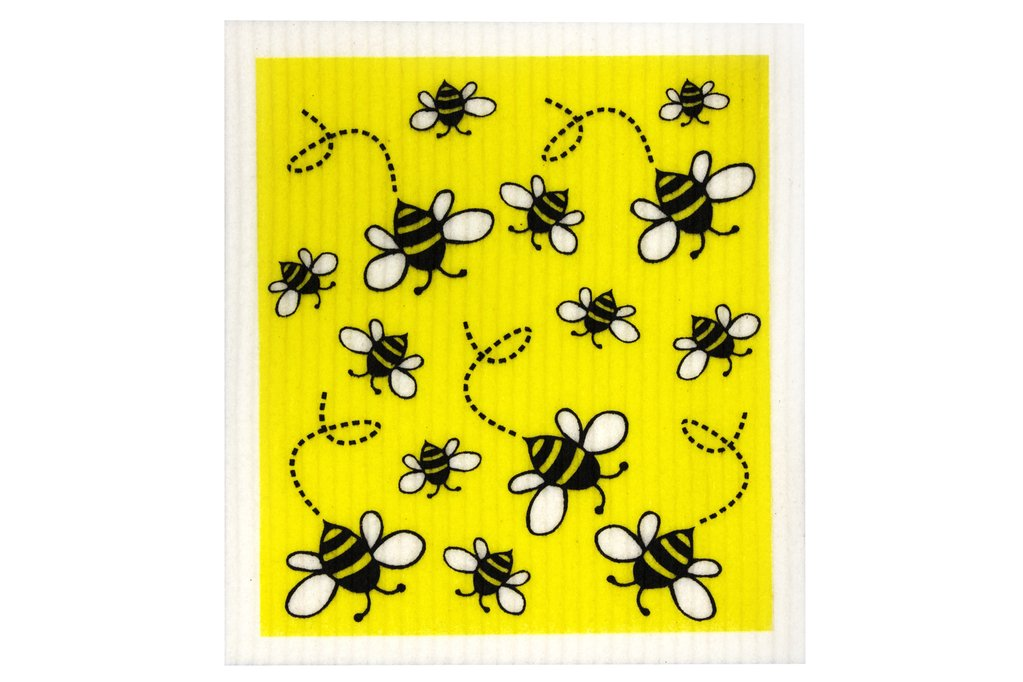 Retro Kitchen Compostable Sponge Cloth Bees - Econique