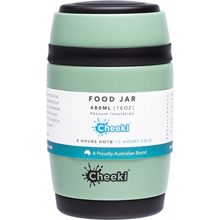 Cheeki Insulated Food Jar 480ml Pistachio - Econique