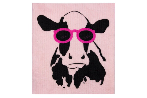 Retro Kitchen Compostable Sponge Cloth Cow - Econique