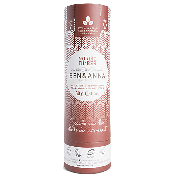 Ben & Anna Papertube Deodorant Nordic Timber - Econique