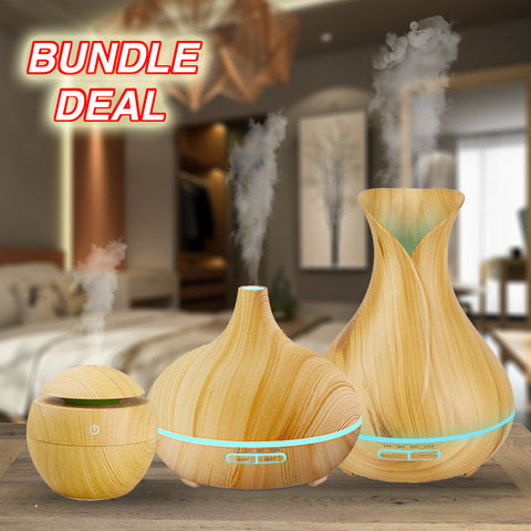 Essential Oil Diffuser/Air Humidifer 3-in-1 Bundle Package Deal