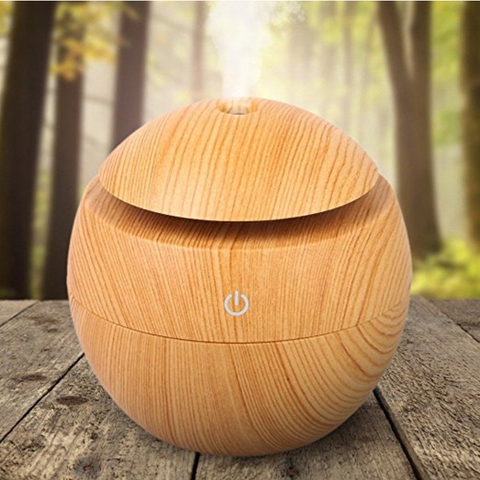 130ML LED Ultrasonic Cool Mist Portable USB Air Humidifier / Essential Oil Diffuser