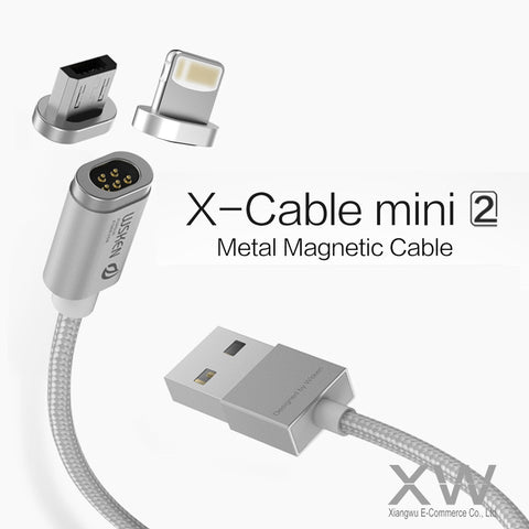 WSKEN Mini 2 Fast Charging Magnetic Quick-Charge Lightning/Micro USB X-Cable