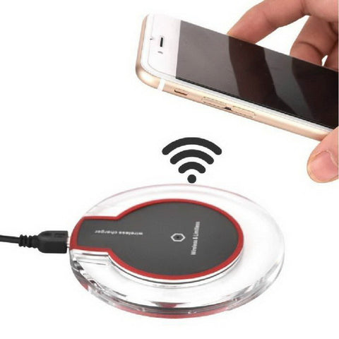 Qi-Enabled Wireless Charger Pad and Adapter Dock Combo (For iPhone/Samsung mobile phones)