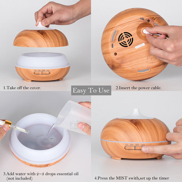 300ML LED Essential Oil Diffuser Air Humidifier