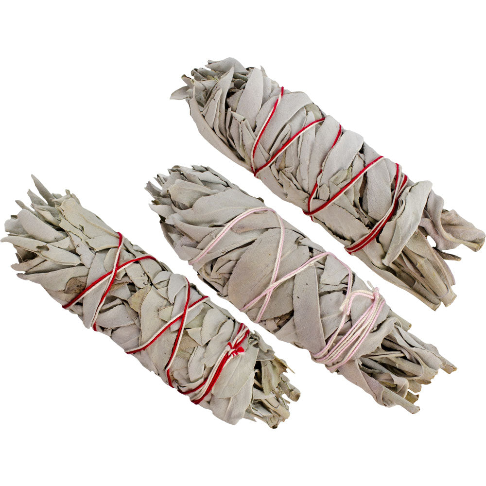California White Sage Smudge Sticks, Medium