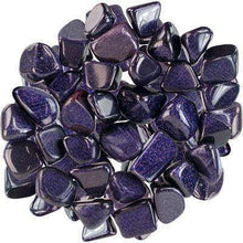 Natural Tumbled Crystals and Stones,Blue Goldstone (Man-Made)