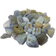 Natural Tumbled Crystals and Stones,Blue Chalcedony