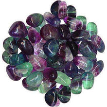 Natural Tumbled Crystals and Stones,Rainbow Fluorite